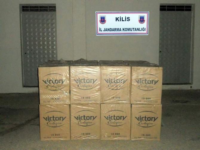 Kilis'te 58 Bin Paket Kaçak Sigara Ele Geçirildi