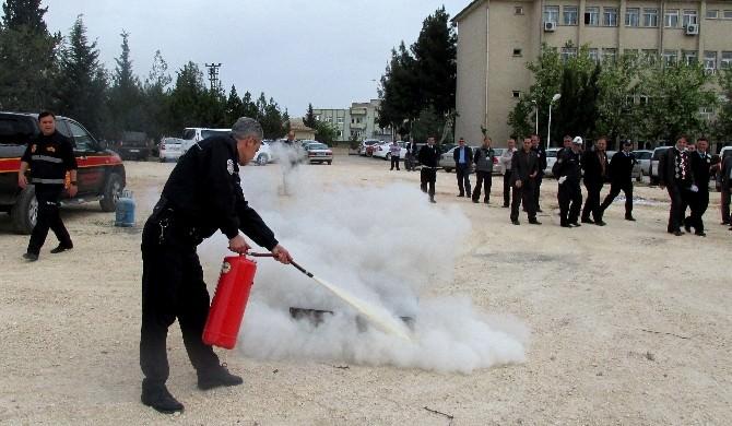 Polislere 'Yangına Müdahale' Eğitimi