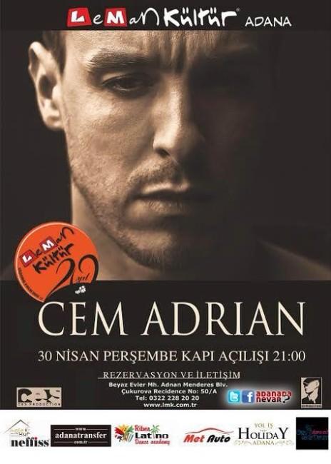Cem Adrian Adana'ya Geliyor