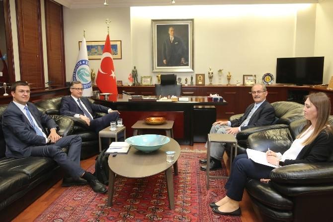 Belarus Ankara Büyükelçisi Başkan Büyükerşen'i Ziyaret Etti