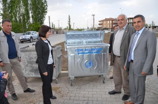 Iğdır Belediyesi 500 Adet Çöp Konteyneri Aldı