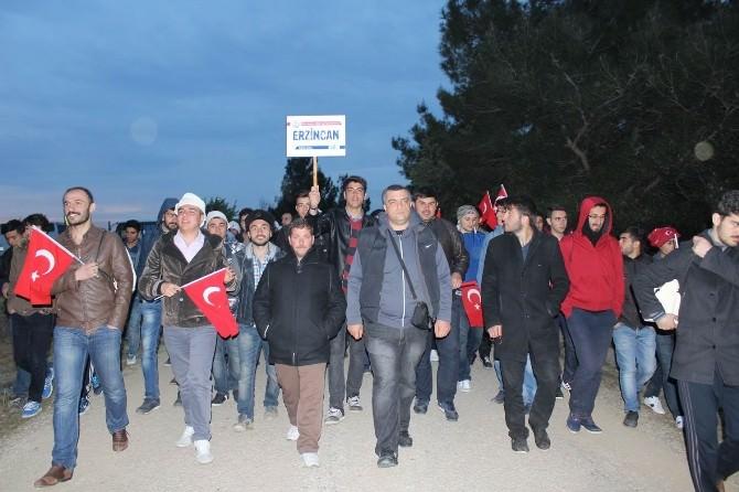 Erzincan'dan Yüzlerce Genç 57. Alay Vefa Yürüyüşüne Katıldı