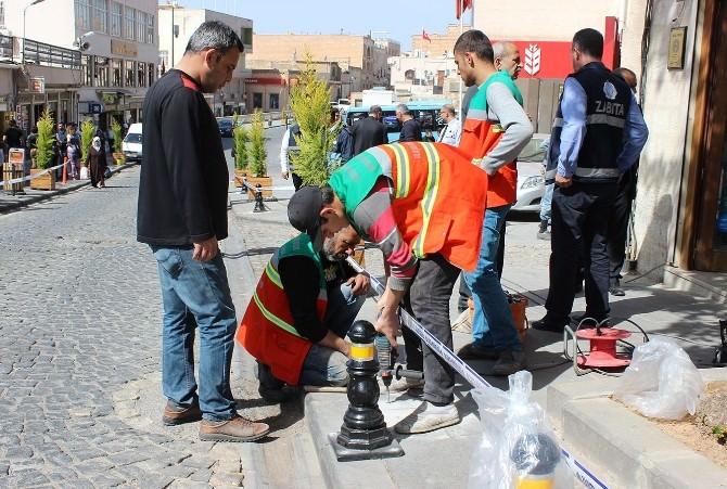 Mardin'de Kaldırıma Park Etme Sorununa Farklı Çözüm