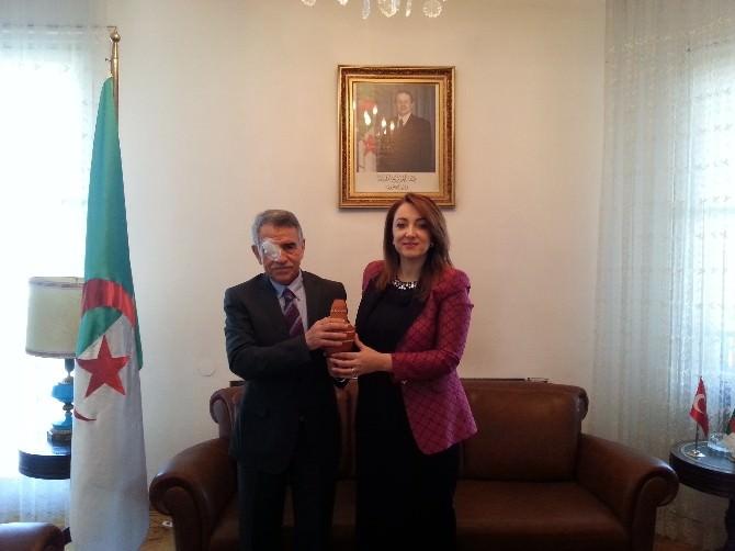 Sankon Genel Başkanı Atasoy, Cezayir Demokratik Halk Cumhuriyeti Ankara Büyükelçisiyle Görüştü