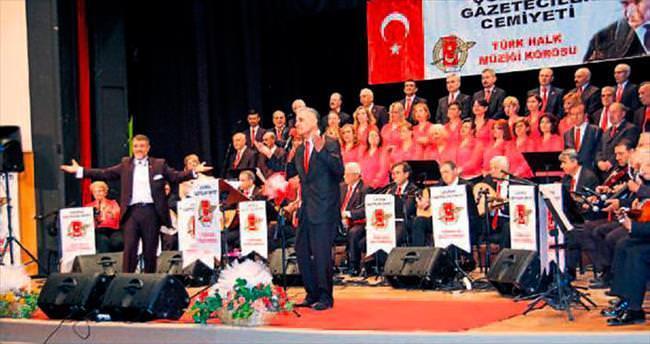 Gazeteciler korosundan 40'ıncı yıl türkü şöleni