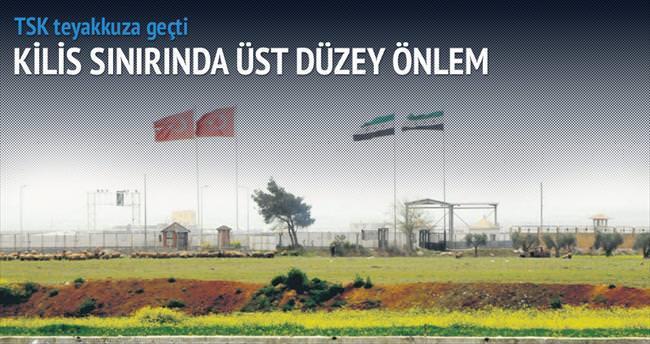 Kilis sınırında 3 ayrı bayrak