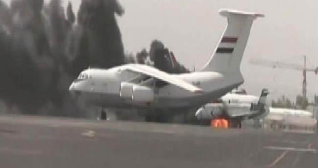 Sana Havaalanı'na bombalı saldırı