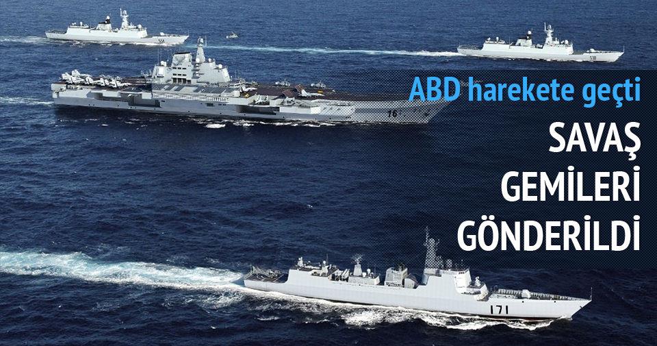 ABD harekete geçti! Savaş gemileri gönderildi