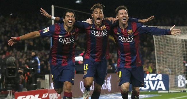Messi, Neymar ve Luis Suarez'den 100 gol