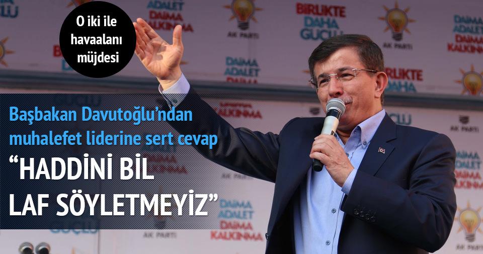 Davutoğlu: Haddini bil Demirtaş