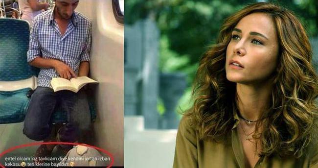 Burçin Terzioğlu, İzmirli Ali Uçar'a kitap hediye etti