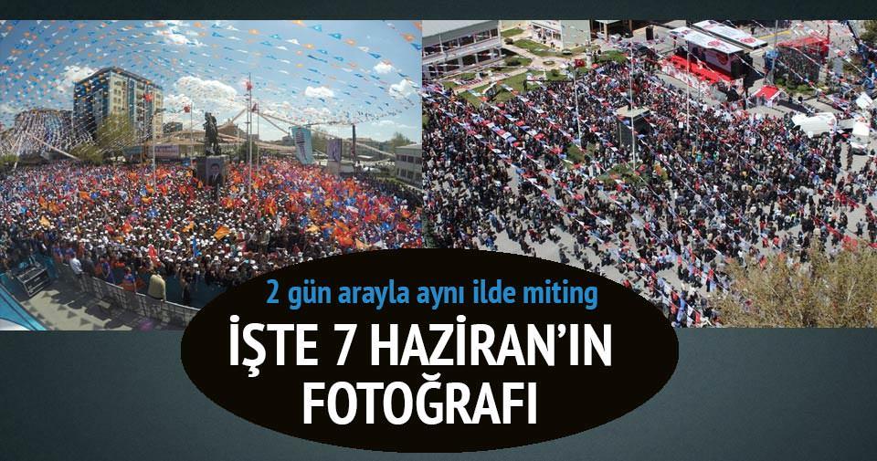 AK Parti ve CHP'nin Niğde mitingi karşılaştırması