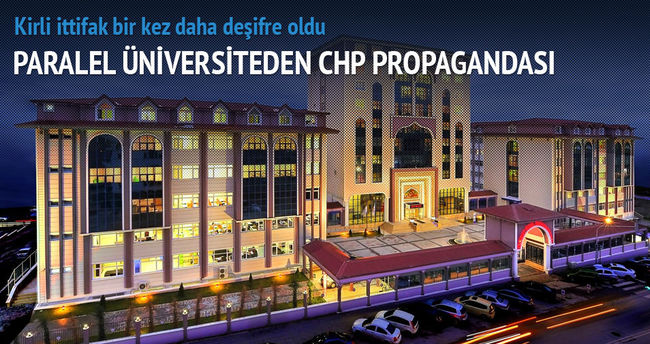 Turgut Özal Üniversitesi'nde CHP propagandası