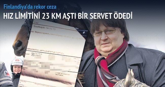 Hız sınırını aştı 54 bin euro ödedi