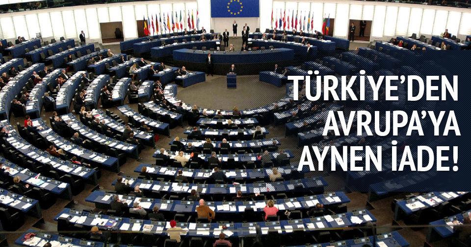 Türkiye 'soykırım kararını' AP'ye aynen iade etti