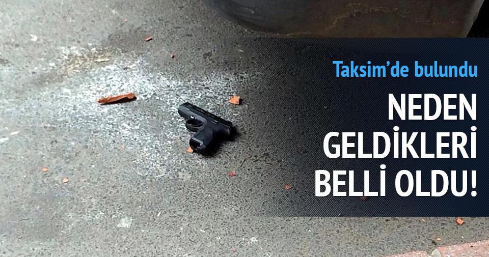 Taksim'e eylemci polisten kaçarken silah düşürdü