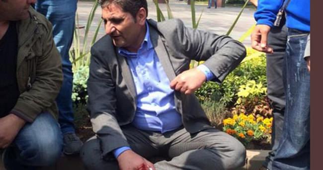 Eylemciye sahip çıkan CHP'li vekil polise saldırdı