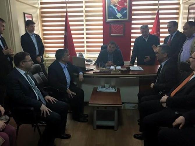 Milli Savunma Bakanı Yılmaz CHP'yi Ziyaret Etti