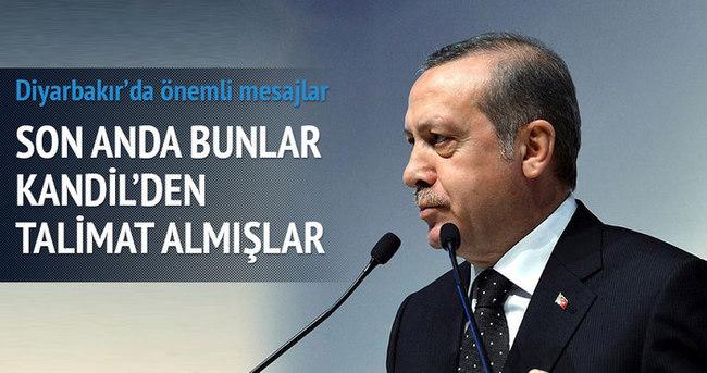 Erdoğan: Son anda Kandil'den talimat almışlar