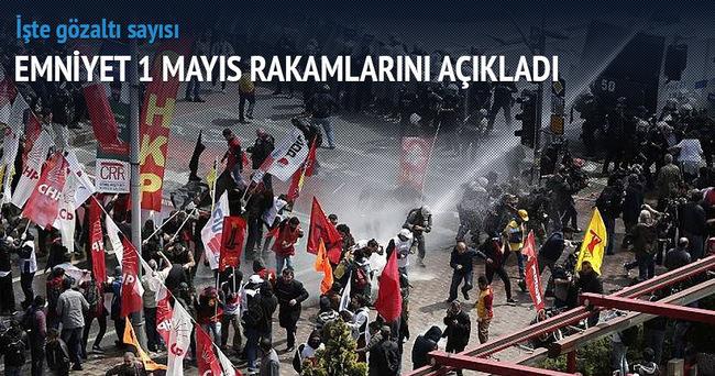 1 Mayıs'ta 339 kişi gözaltına alındı