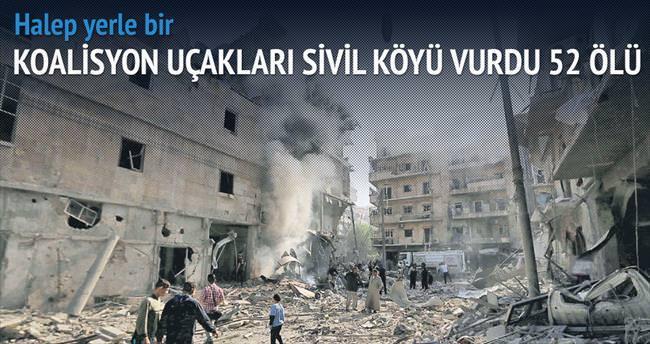 Koalisyon uçakları sivil köyü vurdu
