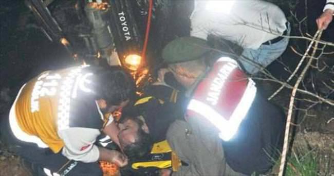 Off-Road aracı uçuruma yuvarlandı: 2 ölü, 1 yaralı
