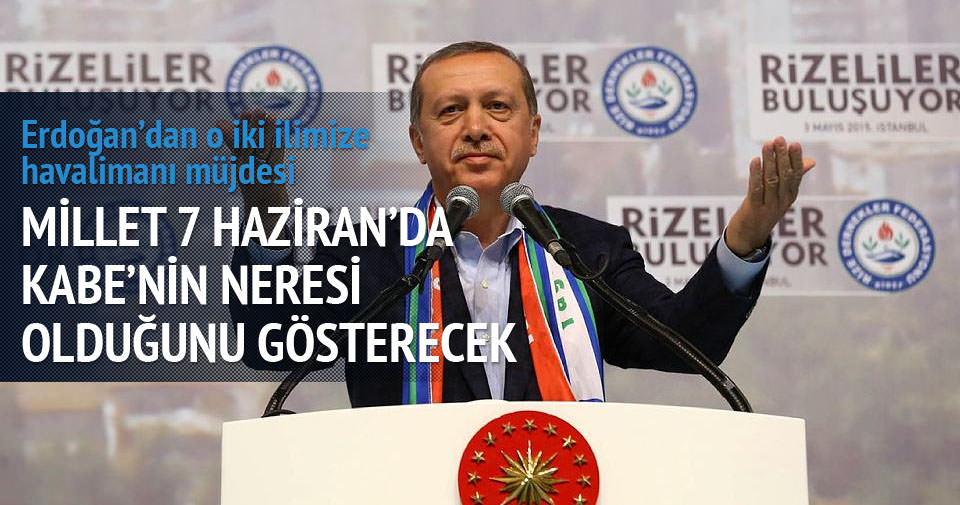 Cumhurbaşkanı Erdoğan'dan havalimanı müjdesi