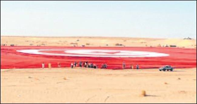 Dünyanın en büyük bayrağı Tunus'ta