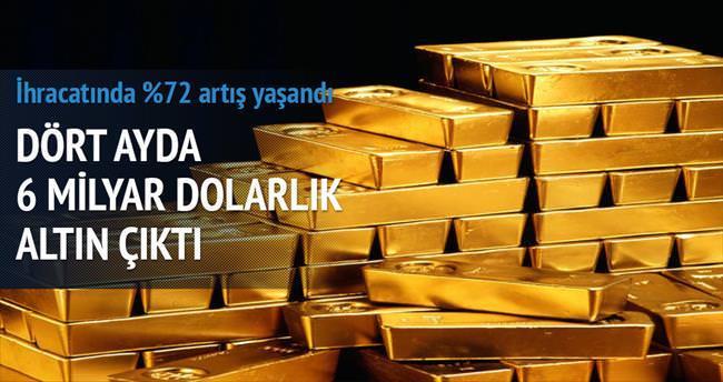 Dört ayda 6 milyar dolarlık altın çıktı
