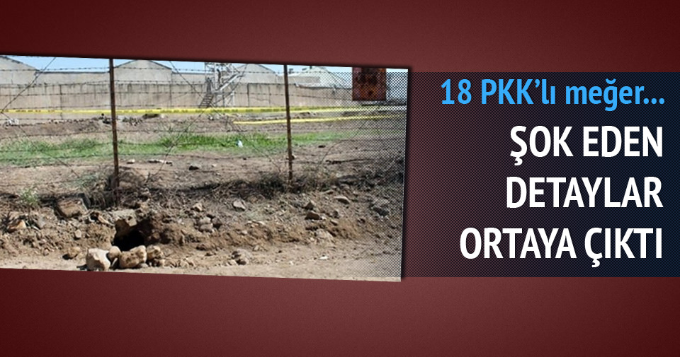 18 PKK'lı böyle firar etmiş