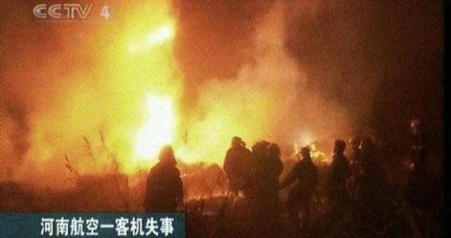 Çin'de uçak kazası!