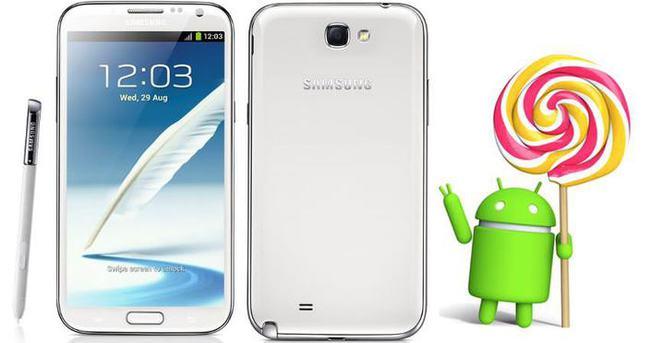 Samsung Galaxy Note II Lollipop güncellemesi alamayacak