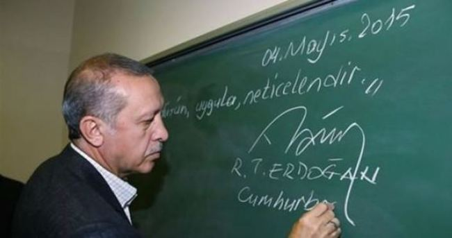 Erdoğan, eşinin adını taşıyan yurdun açılışını yaptı