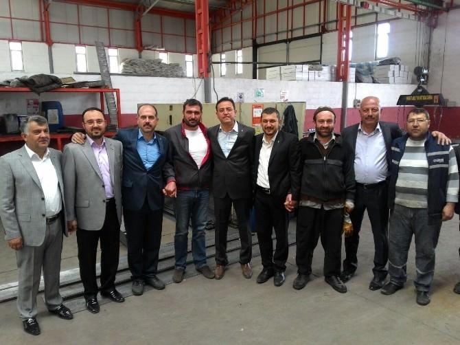 AK Parti Milletvekili Adayları, Özel Organize Sanayi Bölgesini Gezdi