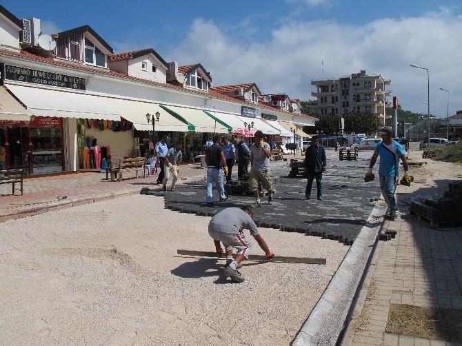 Alanya Türkler Mahallesi'nde Parke Çalışması Devam Ediyor