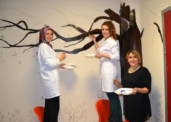 BUSMEK Kursiyerleri Hastaneyi Güzelleştirdi