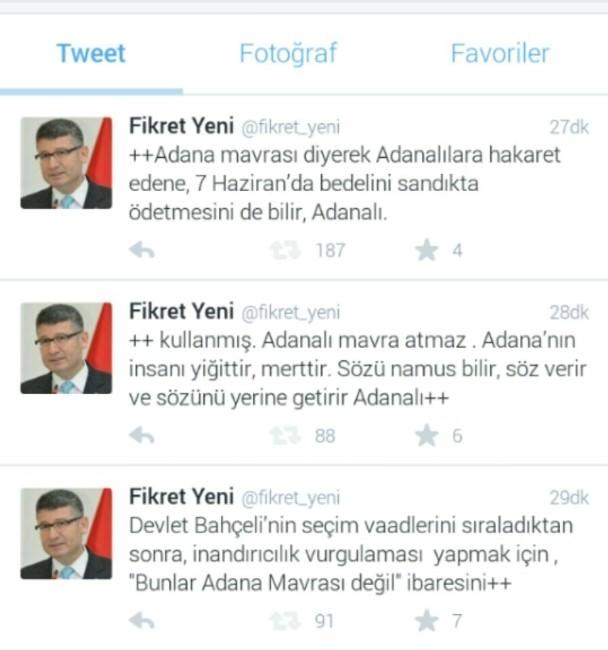 Fikret Yeni'den Bahçeli'nin Adana Mavrası Değil Sözüne Tepki