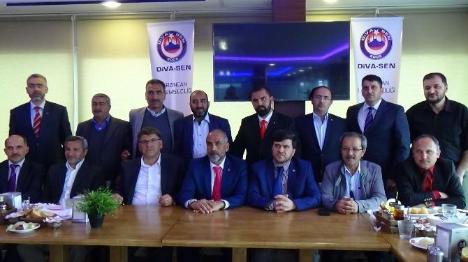 """DİVA-SEN; """"Biz Erzincan'da Hizmete Talibiz"""""""