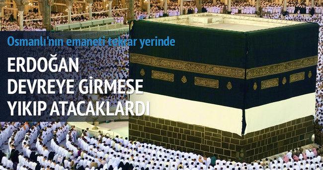 Kabe'deki Osmanlı revakları monte edildi