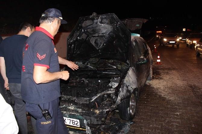 Aydın'da Otomobil Yangını