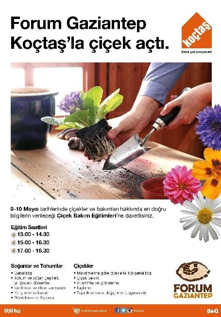 Forum Gaziantep Koçtaş'la Çiçek Açıyor