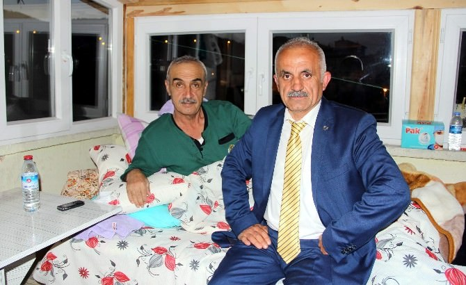 Muhtarlardan, Aksoy'a 'Geçmiş Olsun' Ziyareti