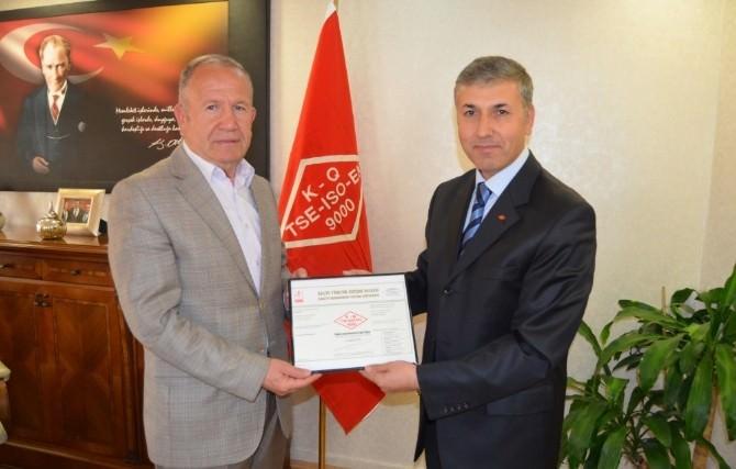 Nevşehir Ticaret Borsası Ts En ISO 9001 Belgesi Aldı