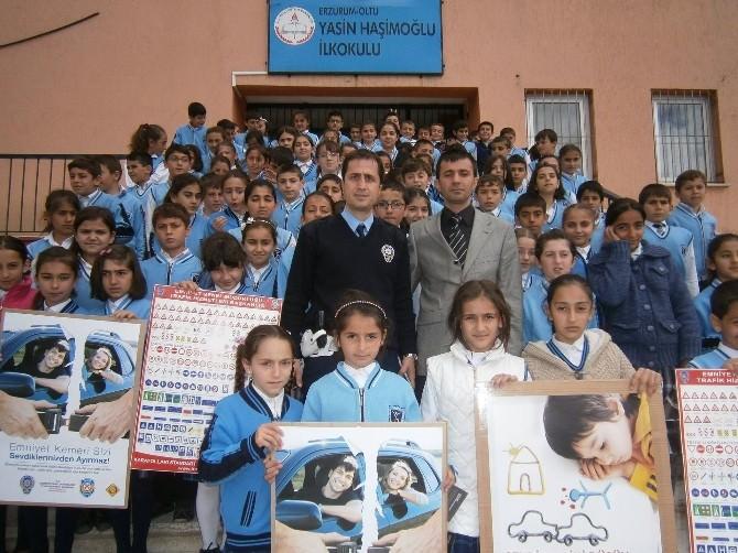 Oltu'da Öğrencilere Trafik Semineri