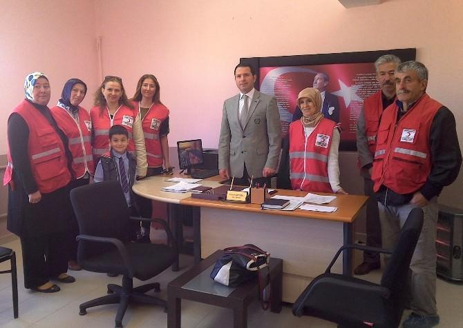 Kızılay Canik Şubesi'nden Köy Okullarına Yönelik Proje