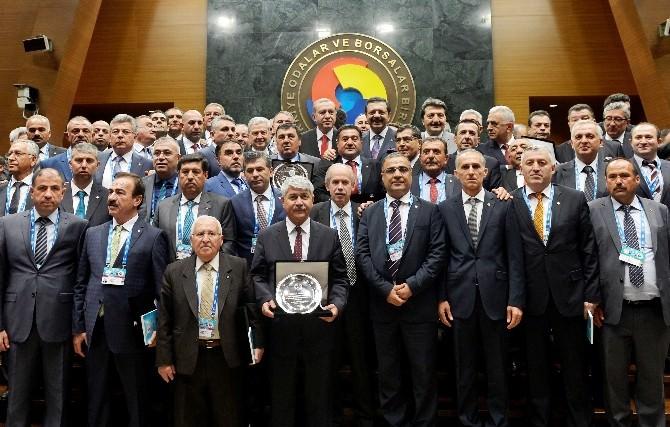 Nto Başkanı Özyurt'a, Cumhurbaşkanı'ndan Hizmet Şeref Belgesi