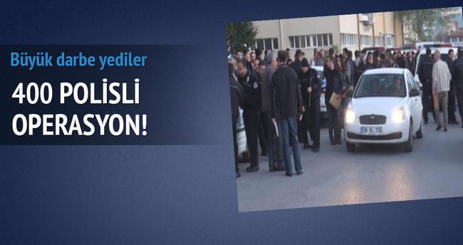 Kayseri'de 400 polisli operasyon