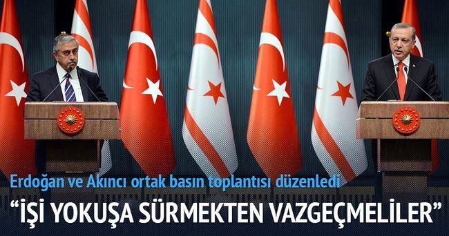 Erdoğan-Akıncı ortak basın açıklaması yaptı