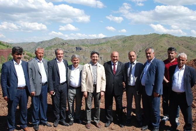 AK Parti'li Aydın, Koçali Barajı İnşaatında İncelemelerde Bulundu