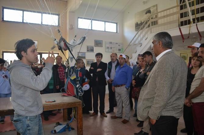 Kent Konseyi Organize Etti Engelliler Eskişehir Havacılık Okulunu Gezdi